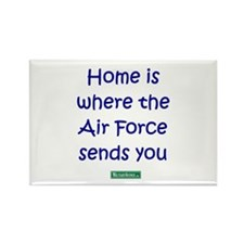 Home is where the Air Force S Rectangle Magnet