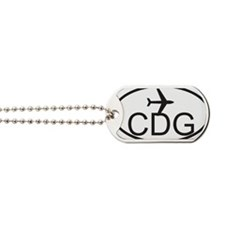 degaulle airport Dog Tags