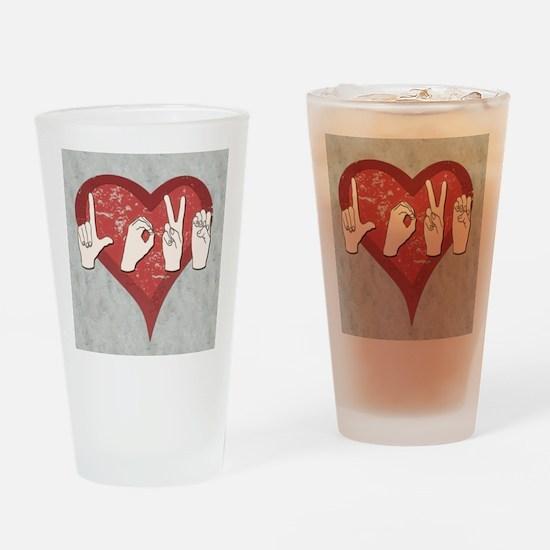 LoveASL2 Drinking Glass