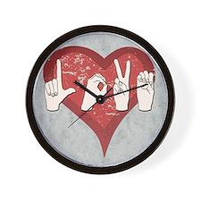 LoveASL2 Wall Clock