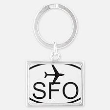 san fran airport Landscape Keychain