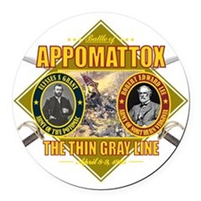 Appomattox (battle)1 Round Car Magnet