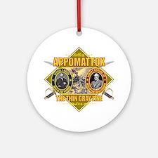 Appomattox (battle)1 Round Ornament