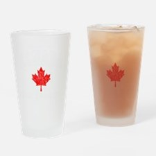 Canada Hockey -dk Drinking Glass