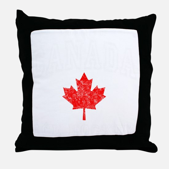 Canada Hockey -dk Throw Pillow