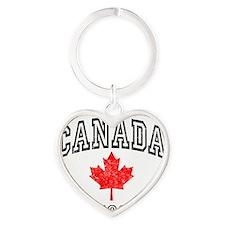 Canada Hockey Heart Keychain