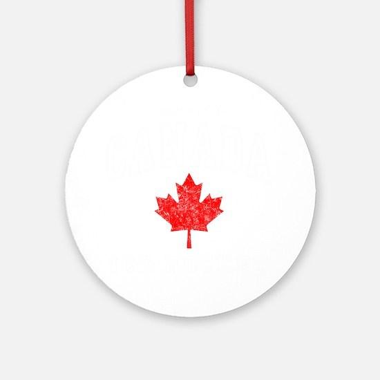 Canada Hockey -dk Round Ornament