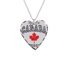 Canada Hockey Necklace Heart Charm