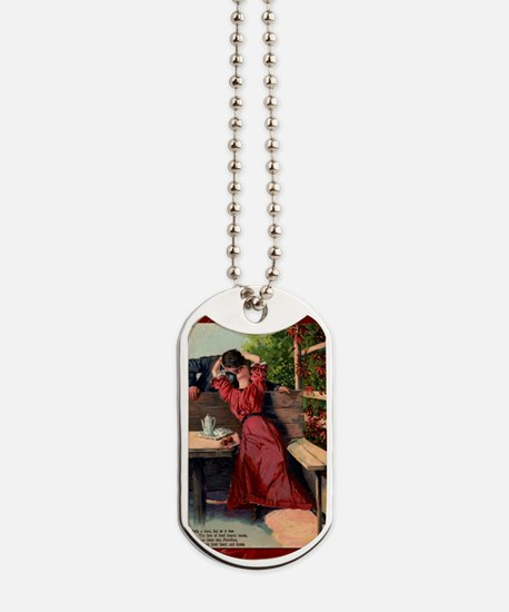 Victorian Valentine Bliss of a Kiss Dog Tags