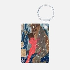 Kintoki Swims up the Water Keychains