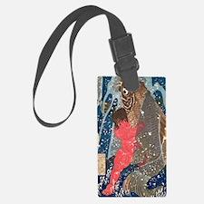 Kintoki Swims up the Waterfall b Luggage Tag