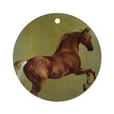 Whistlejacket by George Stubbs Round Ornament