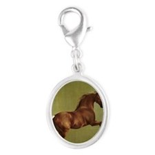 Whistlejacket by George Stubbs Silver Oval Charm