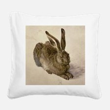 Hare by Albrecht Durer Square Canvas Pillow