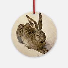 Hare by Albrecht Durer Round Ornament
