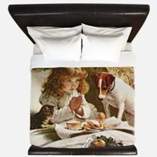 Suspense by Charles Burton Barber King Duvet