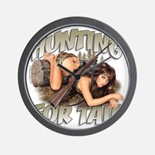 CP1008-HuntingForTail-Pinup Wall Clock