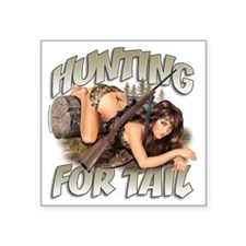 """CP1008-HuntingForTail-Pinup Square Sticker 3"""" x 3"""""""