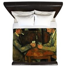 The Card Players by Paul Cezanne King Duvet