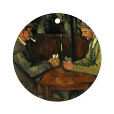 The Card Players by Paul Cezanne Round Ornament