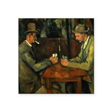 """The Card Players by Paul Ce Square Sticker 3"""" x 3"""""""