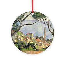 The Sea at lEstaque by Paul Cezanne Round Ornament