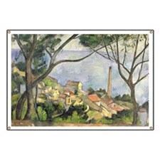 The Sea at lEstaque by Paul Cezanne Banner