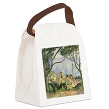 The Sea at lEstaque by Paul Cezan Canvas Lunch Bag