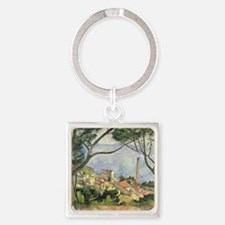 The Sea at lEstaque by Paul Cezann Square Keychain