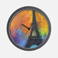 cafe9x12eiffelab Wall Clock