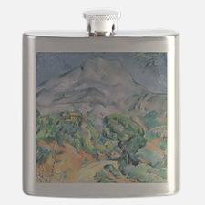 Mont Sainte-Victoire, 1900 by Paul Cezanne Flask
