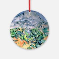 Mont Sainte-Victoire, 1900 by Paul  Round Ornament