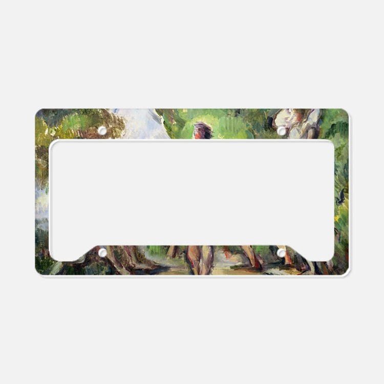 Bathers by Paul Cezanne License Plate Holder