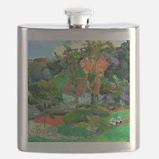 Landscape at Pont Aven by Paul Gauguin Flask