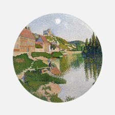 The River Bank, Petit-Andely by Pau Round Ornament