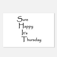 Sure Happy It's Thursday Postcards (Package of 8)