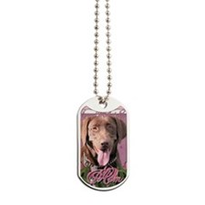Mothers_Day_Pink_Tulips_Labrador_Chocolat Dog Tags