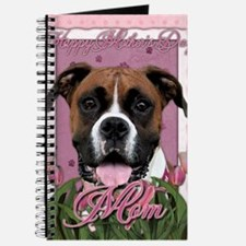 Mothers_Day_Pink_Tulips_Boxer_Vindy_Mom Journal