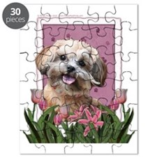Pink_Tulips_ShihPoo_Maggie Puzzle