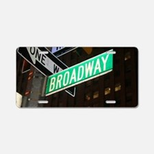 broadway3 Aluminum License Plate