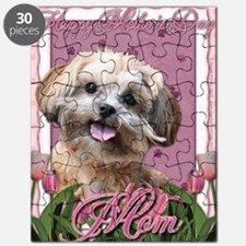 Mothers_Day_Pink_Tulips_ShihPoo_Maggie_Mom Puzzle