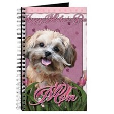 Mothers_Day_Pink_Tulips_ShihPoo_Maggie_Mom Journal