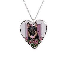 Pink_Tulips_German_Shepherd_K Necklace