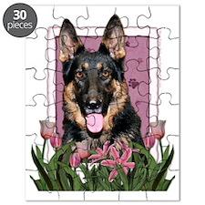 Pink_Tulips_German_Shepherd_Kuno Puzzle