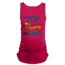 Old Wiener Maternity Tank Top