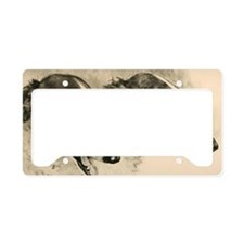 2 Borzoi Heads License Plate Holder