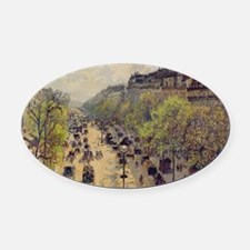 Boulevard Montmartre, Spring by Ca Oval Car Magnet