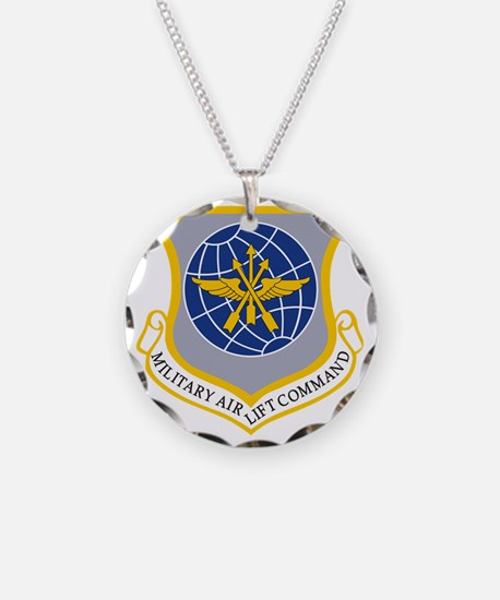 Military Airlift Command MAC Necklace Circle Charm