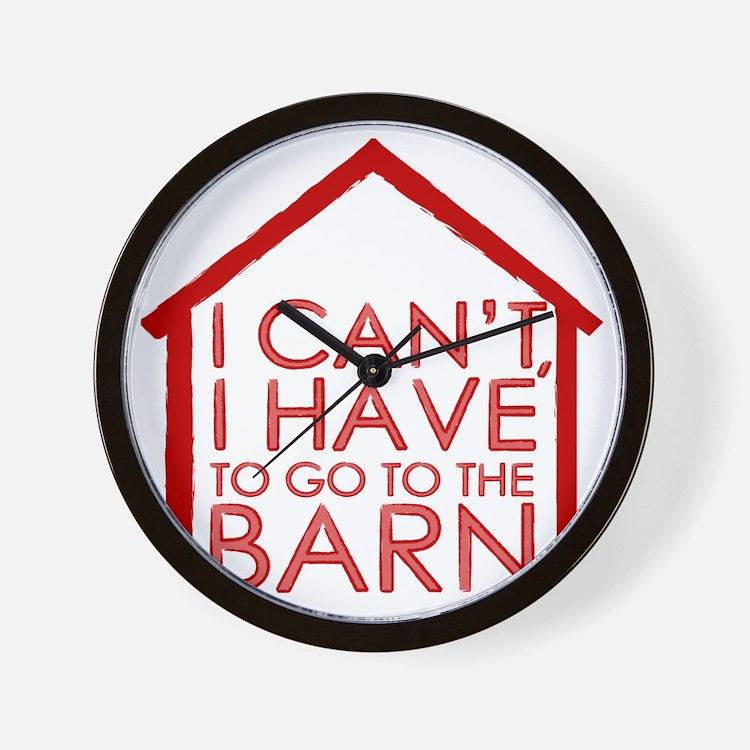 To The Barn Wall Clock