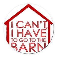 To The Barn Round Car Magnet